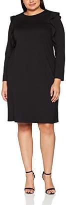 Ulla Popken Large Size Ladies Dress Punto Dress, Flounces56 (Manufacturer Size: 54+)