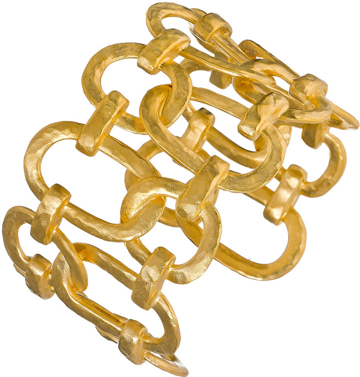 Kenneth Jay Lane Gold Plated Circle Link Cuff