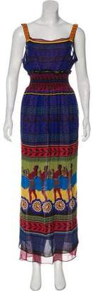 Mary Katrantzou Sleeveless Silk Dress