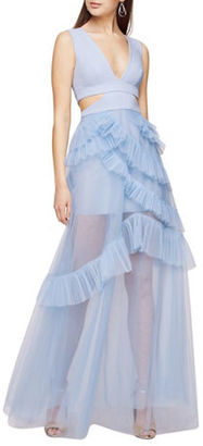 Bcbgmaxazria Joela Pleated Tulle Gown $498 thestylecure.com