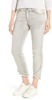 NYDJ Sheri Crisscross Hem Slim Ankle Jeans