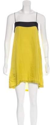 Toga Pulla Sleeveless Shift Dress Chartreuse Sleeveless Shift Dress