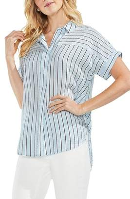 Vince Camuto Modern Canopy Stripe Short Sleeve Top