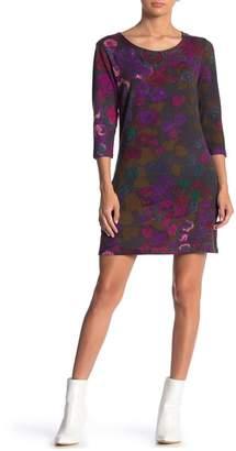 Papillon Floral Print Sweater Dress