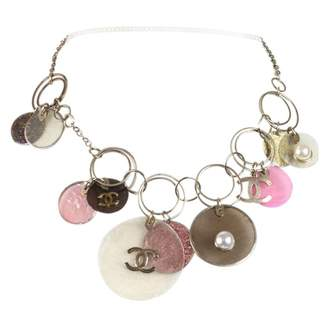 Chanel Pink Metal Necklace