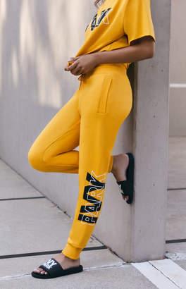 Ivy Park Mustard Layer Logo Slim Leg Jogger Pants