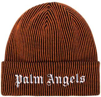 Palm Angels embroidered logo beanie
