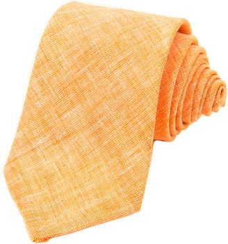 40 Colori Orange Solid Linen Tie