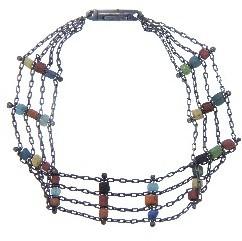 Ten Thousand Things Triple Ancient Bead Bracelet - Oxidized Sterling Silver