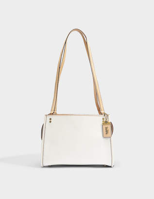 Coach Rogue Shoulder Bag in Chalk Calfskin