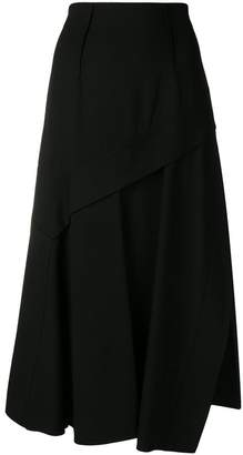 Sportmax asymmetric midi skirt