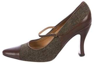 Ralph Lauren Woven Mary Jane Pumps