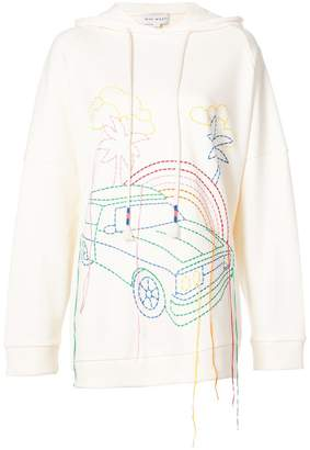 Mira Mikati hand embroidered hoodie