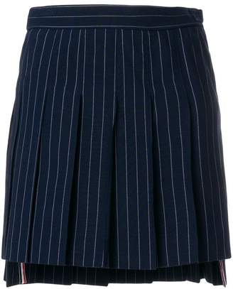 Thom Browne Chalk Stripe Pleated Mini Skirt