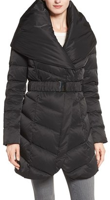 Women's Tahari 'Matilda' Shawl Collar Down Jacket $260 thestylecure.com