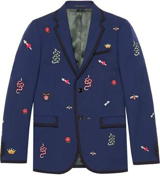 Gucci Monaco embroidered jacket