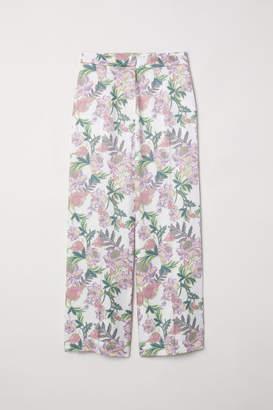 H&M Wide-cut Pants - White