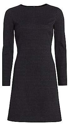 Theory Women's Kamillina Houndstooth Shift Dress