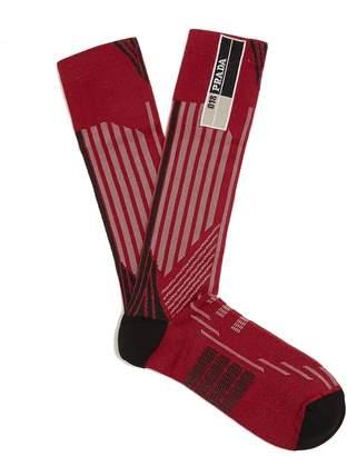 Prada Striped-geometric jacquard socks