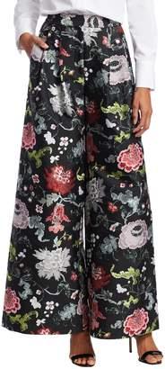 ADAM by Adam Lippes Women's Floral Wide-Leg Trousers