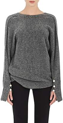 3.1 Phillip Lim Women's Embellished-Sleeve V-Neck Sweater