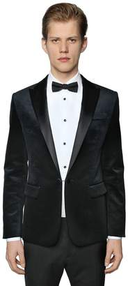 DSQUARED2 Beverly Cotton Velvet Tuxedo Jacket