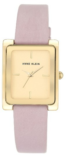 Anne Klein Women's Anne Klein Rectangle Leather Strap Watch, 28Mm