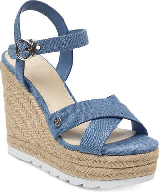 GUESS Women's Genisi Espadrille Wedge Sandals Women's Shoes