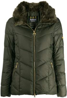 Barbour fur trimmed collar jacket