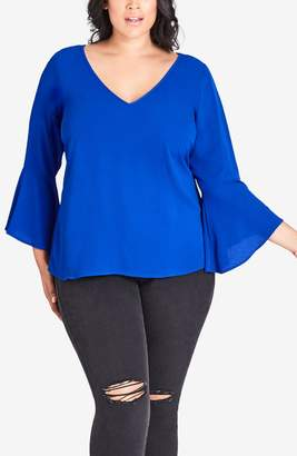 City Chic Bell Sleeve Top
