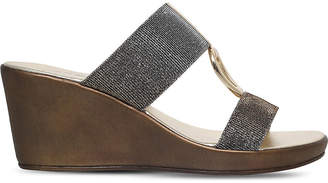 Carvela Comfort Salt metallic wedge sandals