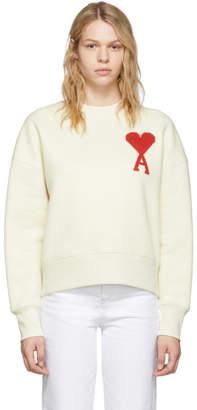 Ami Alexandre Mattiussi Off-White Oversized Ami De Coeur Sweatshirt
