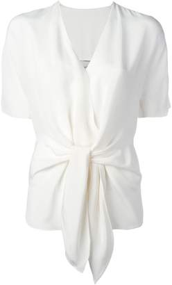3.1 Phillip Lim tie-front shortsleeved blouse