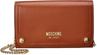 Moschino Leather Wallet On Chain