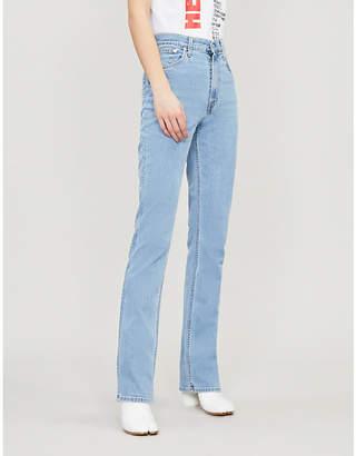 Helmut Lang Femme bootcut stretch-denim jeans