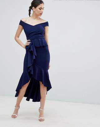 City Goddess Waterfall Pleated Maxi Dress