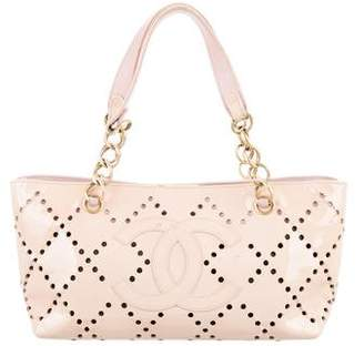 Chanel Perforated CC Patent Tote
