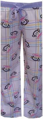 Paul Frank Julius Pastel Plaid Cotton Lounge Pants for women