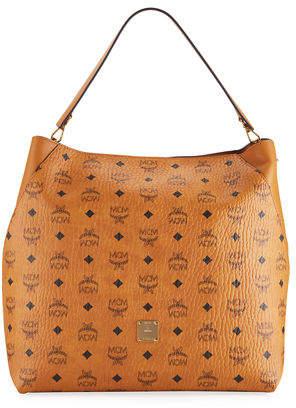 MCM Klara Large Leather Hobo Bag
