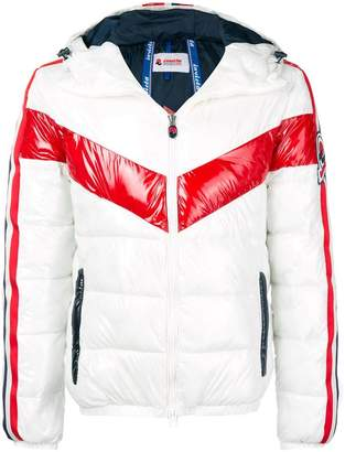 Invicta stripe puffer jacket