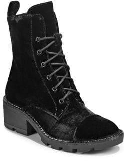 KENDALL + KYLIE Velvet Lace-Up Combat Boots