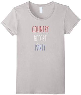 Womens Politics t-shirt for women Country Before Party
