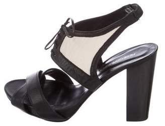 Rebecca Minkoff Bicolor Lace-Up Sandals