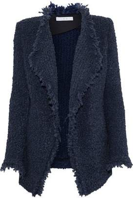 IRO Campbell Frayed Bouclé-Knit Jacket