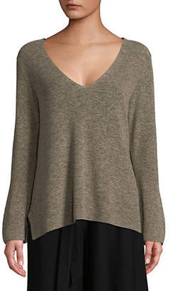 Eileen Fisher Organic Cotton V-Neck Sweater