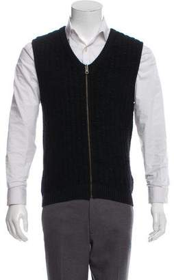 Maison Margiela Wool Zip-Up Vest