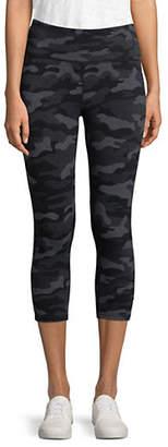 Calvin Klein Printed High-Waist Crop Leggings