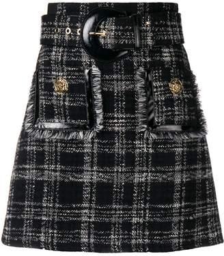 Elisabetta Franchi belted tweed skirt