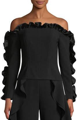 Cinq à Sept Macie Off-the-Shoulder Ruffle Blouse