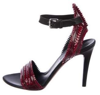 Proenza Schouler Scallop Ankle-Strap Sandals